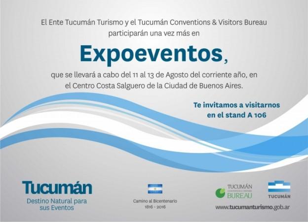 """Tucumán celebra su consolidación como """"Destino Sede"""" en Expoeventos 2015"""